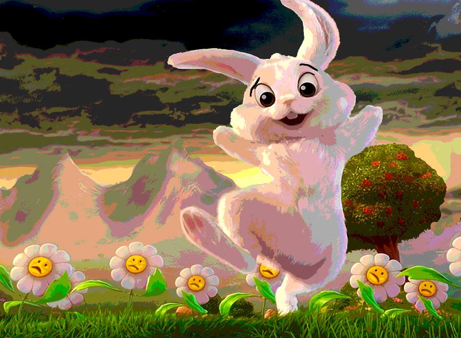 Not so happy bunnies : Lynn Strongin Dodds