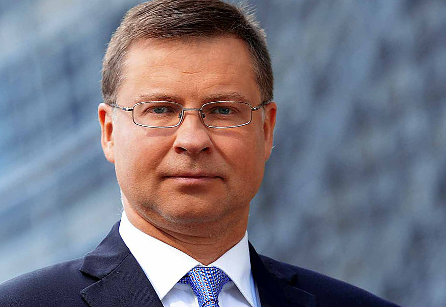 Valdis Dombrovskis, executive vice-president in charge of financial policy, European Commission.