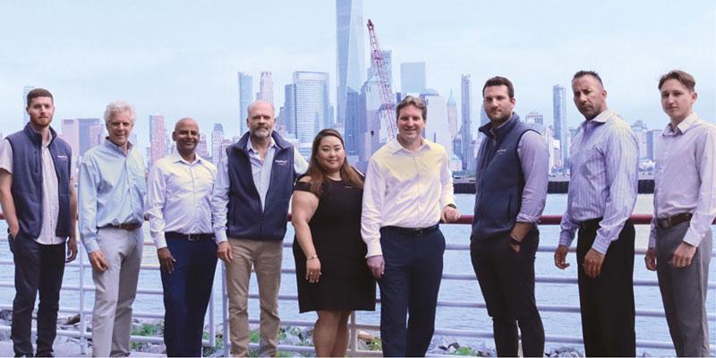 FXSpotStream's algo team (left to right): Matthew Young, John Hawkins, Raju Dantuluri, Alan Schwarz, Caryn Kim, Matthew Fic, Bill Moller, Marc Sini, Matthew Gwiazdowski.